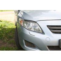 Реснички на фары (накладки) Toyota Corolla 2007-2010