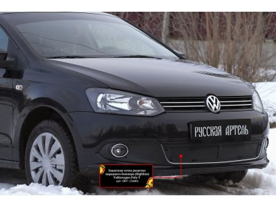 Пластиковая сетка на бампер Volkswagen Polo 2009-2015