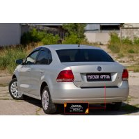 Накладка на бампер для Volkswagen Polo 5