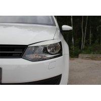 Накладки на фары (реснички) Volkswagen Polo 2009-
