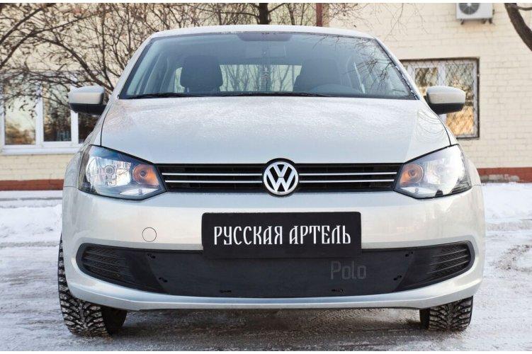 Зимняя заглушка бампера на Volkswagen Polo 2009-