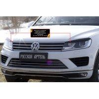 Накладки на фары для Volkswagen Touareg 2014-