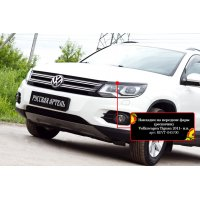 Накладки на фары (передние) Volkswagen Tiguan 2011-