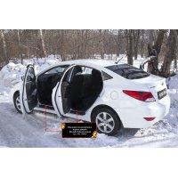 Накладки на пороги дверей Hyundai Solaris (седан)