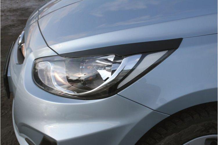 Реснички на передние фары Hyundai Solaris седан 2010-