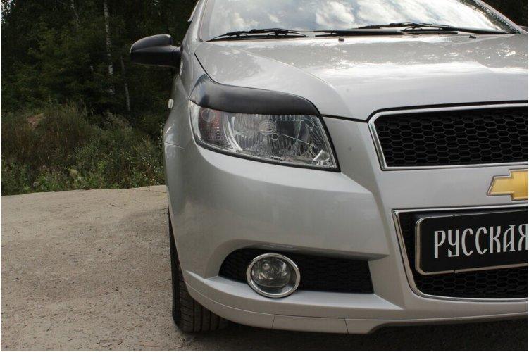 Реснички на передние фары Chevrolet Aveo 2008-2012