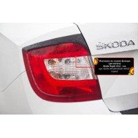 Реснички на задние фонари Skoda Rapid 2017-