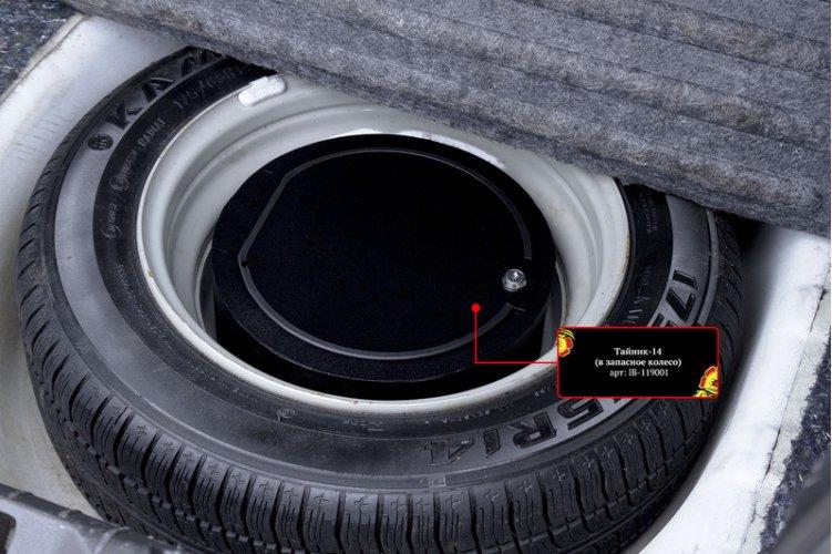 Тайник в запасное колесо (радиус 14)