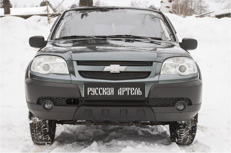 Пластиковые сетки в бампер и решетку радиатора Chevrolet Niva Bertone 2009-
