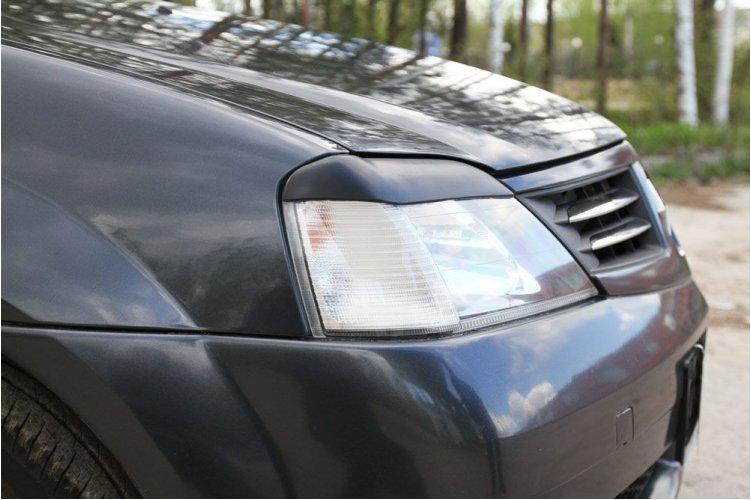 Накладки на передние фары Logan 2004-2010
