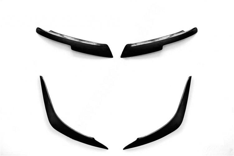 Реснички накладки передних и задних фар Рено Логан