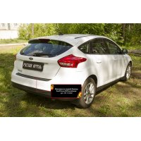 Пластиковая накладка на задний бампер Ford Focus III 2014-
