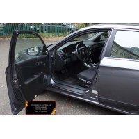 Пластиковые накладки на пороги Honda Accord 2012-2015