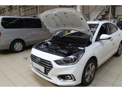 Упоры амортизаторы капота Hyundai Solaris 2 2017-