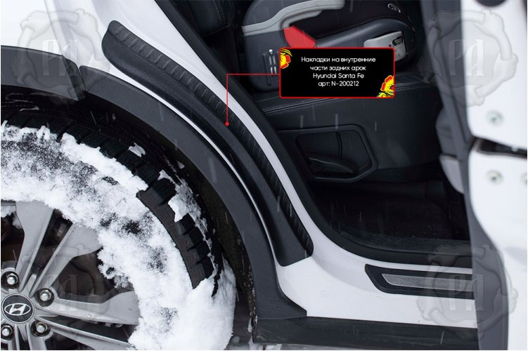 Накладки на задние арки Hyundai Santa Fe III 2013-2015