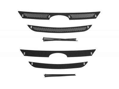 Пластиковая сетка и заглушка решетки радиатора Lada (ВАЗ) Largus 2012-