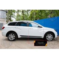 Молдинги на двери (вариант 2) Lada (ВАЗ) Vesta 2015-