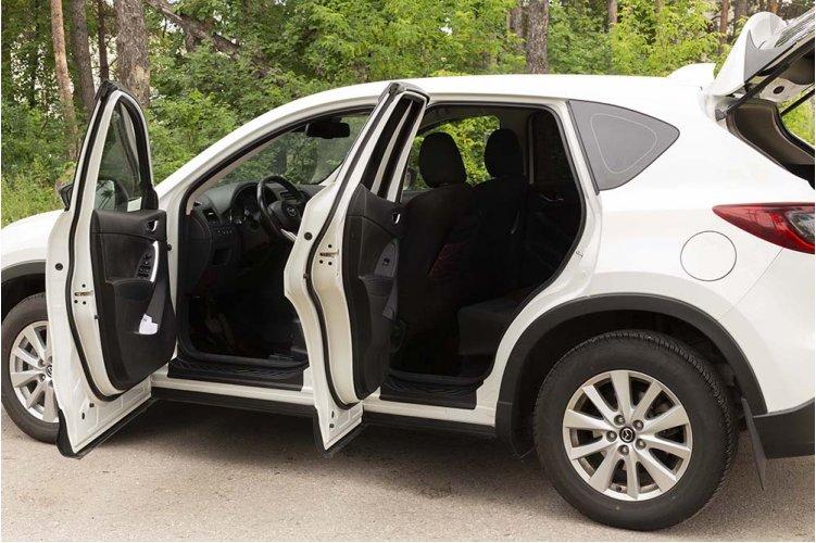 Пластиковые накладки на пороги Mazda CX-5