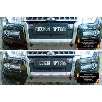 Защитная сетка и заглушка бампера Mitsubishi Pajero 4