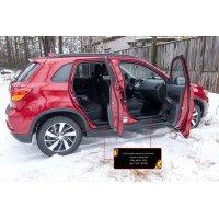 Накладки на пороги дверей Mitsubishi ASX 2016-