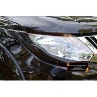 Накладки на передние фары Mitsubishi L200 2015-2018 (5 дорестайлинг)