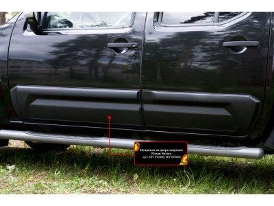 Молдинги (накладки) на двери широкие Nissan Navara