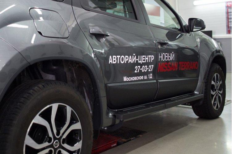 Молдинги (4 шт) для дверей Nissan Terrano 2014-