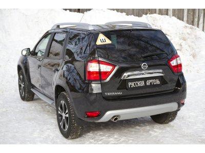 Накладки на ковролин порогов Nissan Terrano 2016-