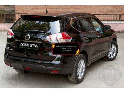 Ппластиковя накладка на бампер для Nissan X-trail 2020-