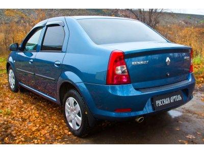 Накладка на бампер Renault Logan 2010-2013