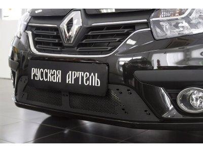 Пластиковая сетка решетки переднего бампера Renault Logan 2018-