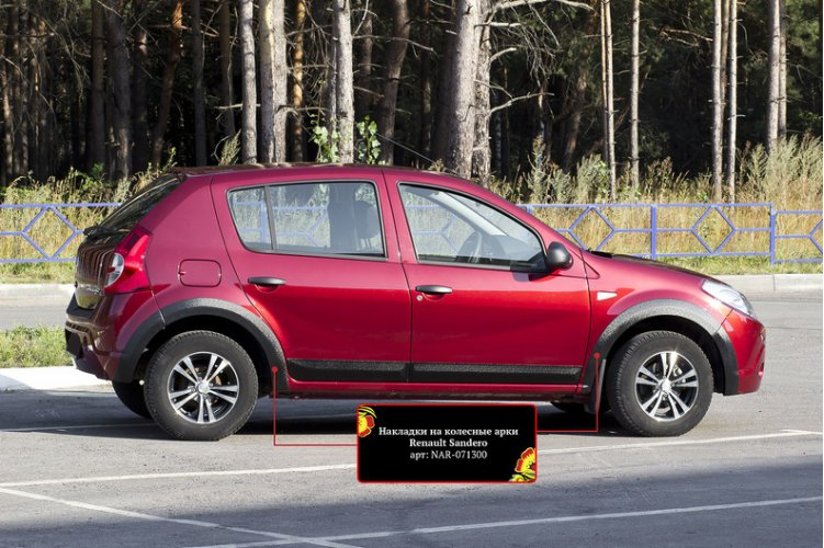 Накладки на арки Renault Sandero 2009-2013