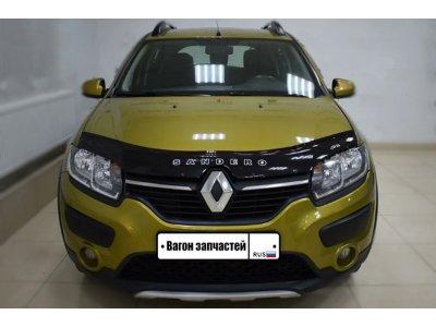 Дефлектор на капот (мухобойка) Renault Sandero 2