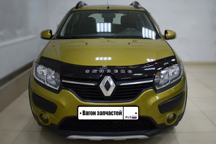 Дефлектор на капот (мухобойка) Renault Sandero Stepway 2