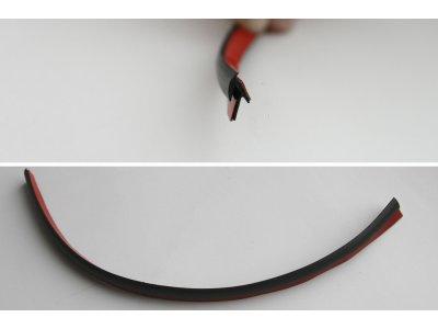 Уплотнительный профиль резиновый (1 м.) два клеевых слоя