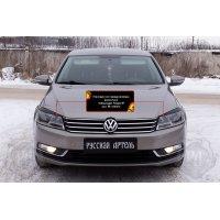 Реснички на передние фары Volkswagen Passat В7 2011-2015