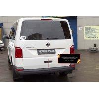 Защитная накладка на задний бампер Volkswagen Transporter (T6) 2015+