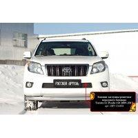 Заглушка решетки бампера на зиму Тойота Прадо Ленд Крузер 150